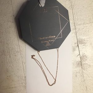 Jewelry - Rose gold plated necklace